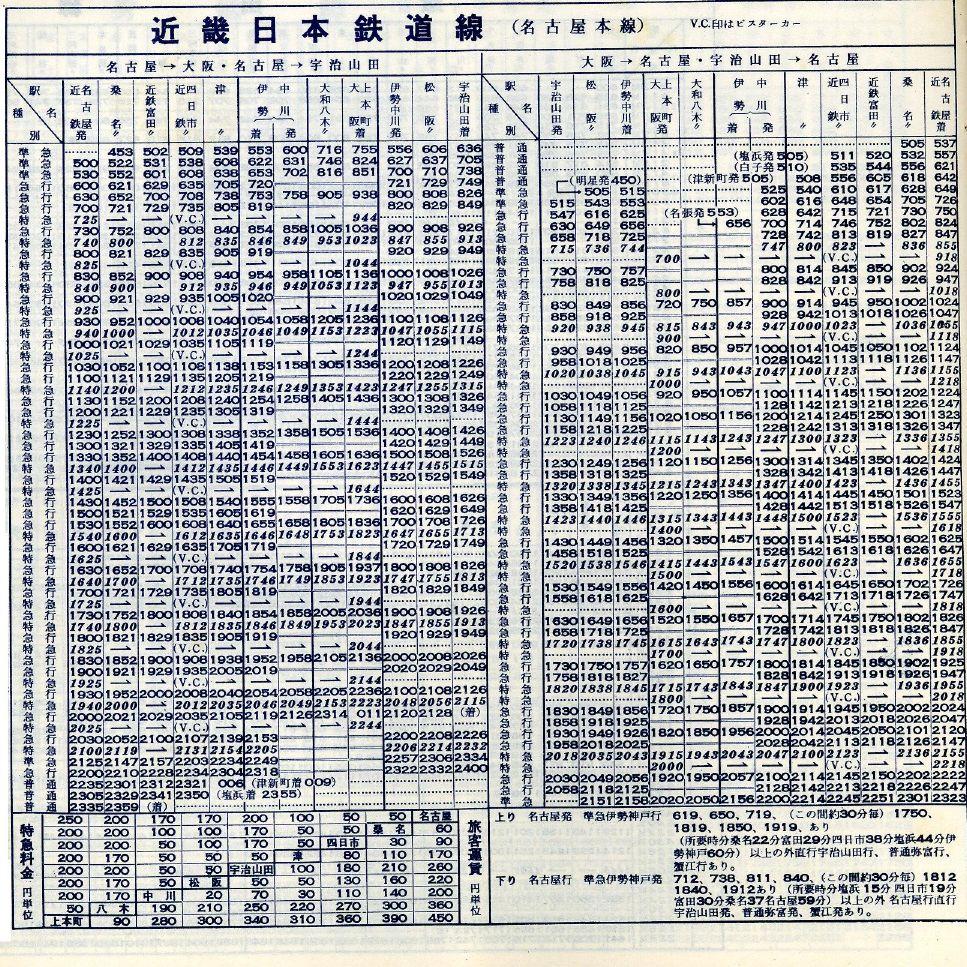近鉄 中川 駅 時刻 表